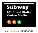 yankee stadium subway train... | Shutterstock . vector #35866342