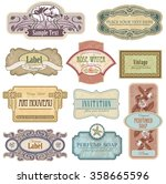 ornate vintage labels in style... | Shutterstock .eps vector #358665596
