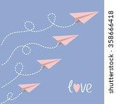 Origami Paper Plane Set . Dash...