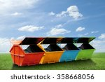 colorful industrial waste bin ... | Shutterstock . vector #358668056