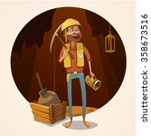 mining concept with retro... | Shutterstock .eps vector #358673516