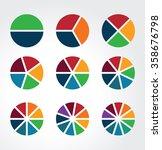 set of segmented spheres used... | Shutterstock .eps vector #358676798