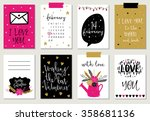 love collection with 8 cards.... | Shutterstock .eps vector #358681136