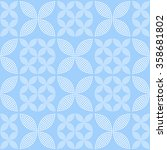 seamless tiled monochrome blue... | Shutterstock .eps vector #358681802