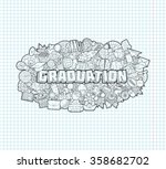 graduation   hand lettering and ... | Shutterstock .eps vector #358682702