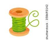 thread and bobbin vector... | Shutterstock .eps vector #358693142