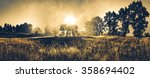 landscape misty panorama.... | Shutterstock . vector #358694402