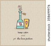 vector illustration of bottle... | Shutterstock .eps vector #358699976