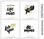 love cards for wedding and... | Shutterstock .eps vector #358704962