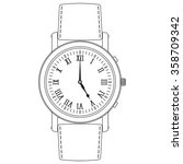 watch. hand watch icon with...   Shutterstock .eps vector #358709342