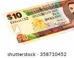 10 Barbadian Dollar Bank Note....