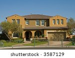 a new home in a new subdivision ... | Shutterstock . vector #3587129