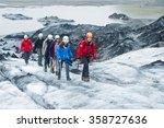 glacier  iceland   june 19 ... | Shutterstock . vector #358727636