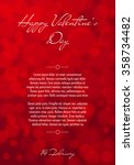 abstract red blurred valentines ... | Shutterstock .eps vector #358734482