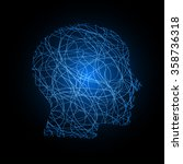head face silhouette vector... | Shutterstock .eps vector #358736318