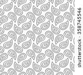 abstract paisley pattern with... | Shutterstock .eps vector #358745546