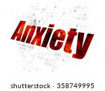 health concept  anxiety on... | Shutterstock . vector #358749995