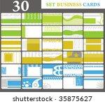 Set Business Cards  Set 30
