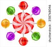 sweet candy lollipops on white...   Shutterstock . vector #358768046
