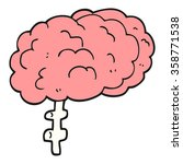 freehand drawn cartoon brain | Shutterstock . vector #358771538