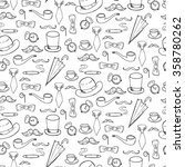 Seamless Pattern With Gentleme...