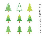 tree icon set | Shutterstock .eps vector #358781612