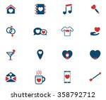 valentines day simply icons for ... | Shutterstock .eps vector #358792712