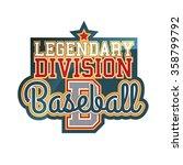 legendary division baseball.... | Shutterstock .eps vector #358799792