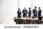 business group meeting... | Shutterstock . vector #358804505