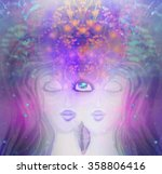 woman with third eye  psychic... | Shutterstock . vector #358806416