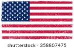 vector grunge usa flag.american ... | Shutterstock .eps vector #358807475
