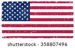 vector grunge usa flag.american ... | Shutterstock .eps vector #358807496