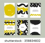 set of templates with hand... | Shutterstock .eps vector #358834832