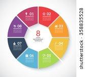 infographic circle banner....   Shutterstock .eps vector #358835528