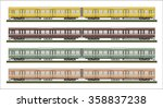 diesel railcar train   | Shutterstock .eps vector #358837238