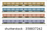 diesel railcar train   | Shutterstock .eps vector #358837262
