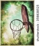 Old Basketball Hoop And Net...