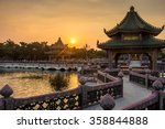 Sunset With Chinese Building...