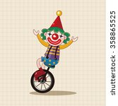 clowns theme elements   Shutterstock .eps vector #358865525