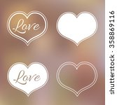 collection of white hearts on... | Shutterstock .eps vector #358869116