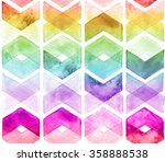 Watercolor Chevron Rainbow...
