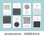 set of creative freehand cards. ... | Shutterstock .eps vector #358894316