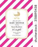 baby girl shower invitation... | Shutterstock .eps vector #358895438