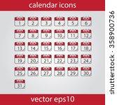 calendar icon  vector eps10... | Shutterstock .eps vector #358900736