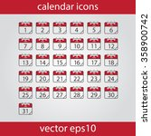 calendar icon  vector eps10... | Shutterstock .eps vector #358900742