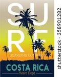 surf's up hand lettering  t... | Shutterstock .eps vector #358901282