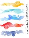 beautiful blue smoke. waved... | Shutterstock .eps vector #358904798