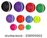 set of bowling balls.... | Shutterstock .eps vector #358905002