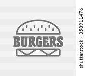 hamburger linear icon. fast... | Shutterstock .eps vector #358911476