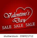 valentines day sale poster with ... | Shutterstock .eps vector #358921712